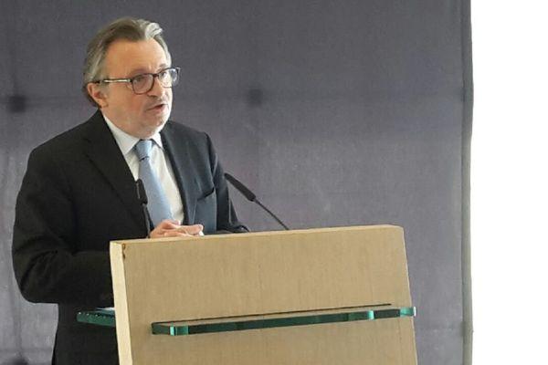 Jean Noel guérini, lors de sa conférence de presse au lendemain des départementales