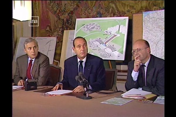 Déclaration de Jacques Chirac sur le tracé du TGV en Picardie en 1987