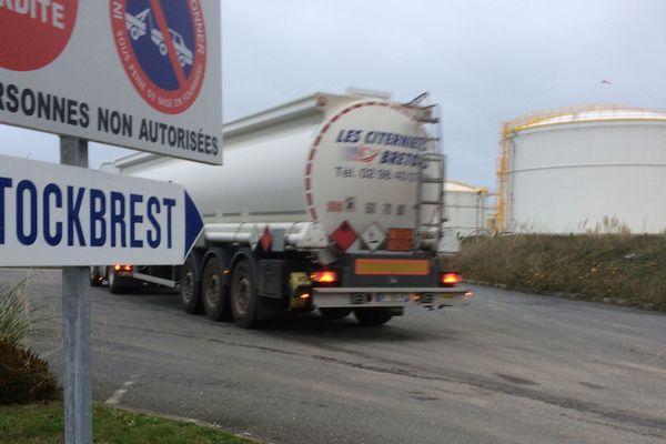 Le dépôt pétrolier de Brest débloqué le mardi 4 décembre 2018