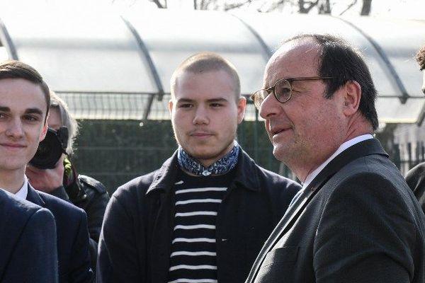 François Hollande s'est exprimé ce vendredi devant des lycéens d'Hénin-Beaumont.