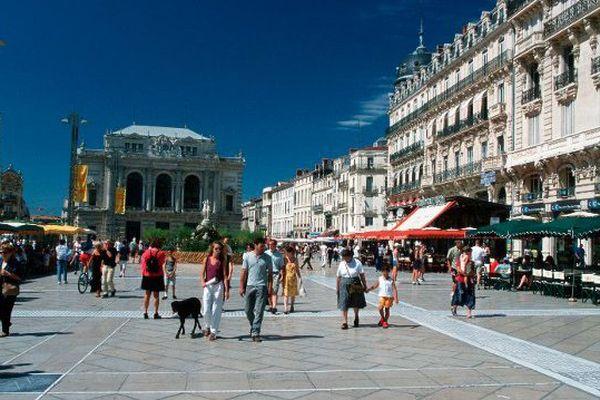 Place de la Comédie à Montpellier - Illustration