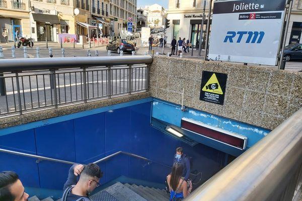 La station de métro Joliette, à Marseille, où s'est déroulé le drame.