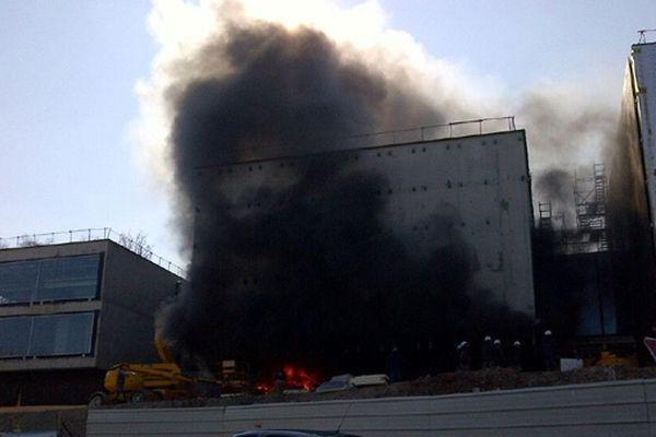 L'incendie sur le chantier du musée Soulages à Rodez