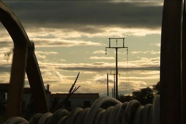 L'enfouissement de la ligne à haute tension de Sommières (Gard) a commencé en novembre 2019