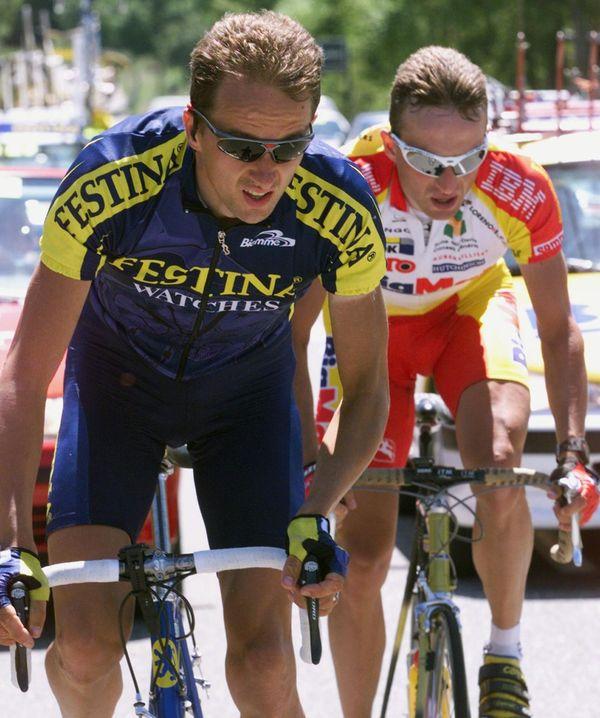 Laurent Madouas avec l'équipe Festina en 1999