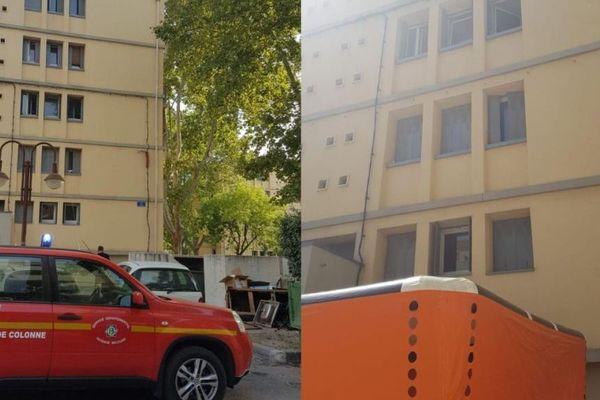 Intervention dans la cité Corsy d'Aix-en-Provence