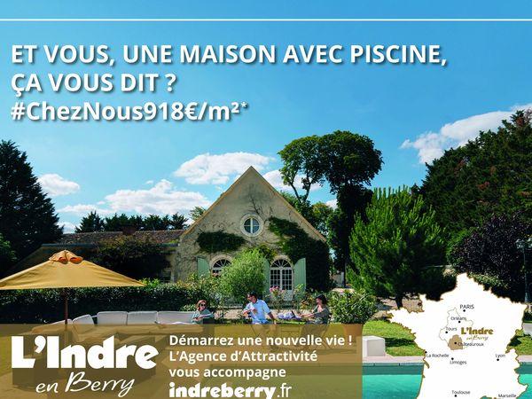 L'Agence d'attractivité de l'Indre a axé sa campagne de pub dans le métro parisien sur cinq thématiques, dont les prix de l'immobilier très accessibles.