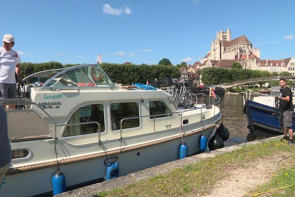Les berges de l'Yonne à Auxerre.