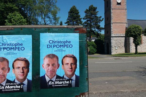 Affiches de Christophe Di Pompeo dans la 3e circonscription du Nord