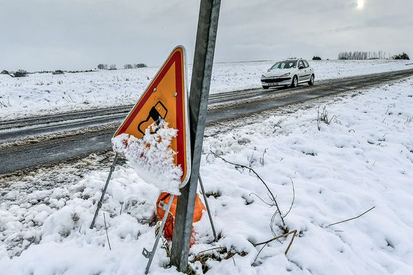 Neige dans les Flandres le 30 janvier 2019