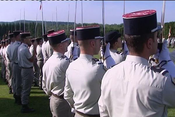 Toutes les composantes de l'arme du train étaient présentes pour cette cérémonie d'hommage.