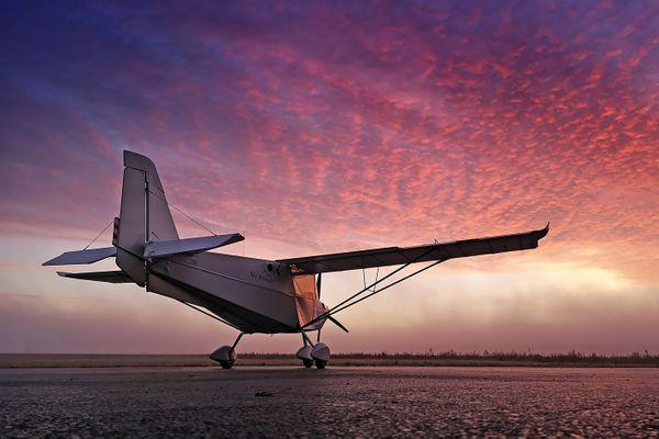L'ULM, acheté il y a trois ans, dans lequel il fait plusieurs vols par semaine