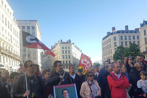 Lyon - 14/5/19 - La mobilisation pour Tuna Altinel, Maître de conférence à Lyon 1, emprisonné en Turquie