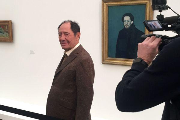 Claude Picasso, le fils cadet de Pablo Picasso, lors de l'inauguration de l'exposition à la fondation Beyeler de Bâle