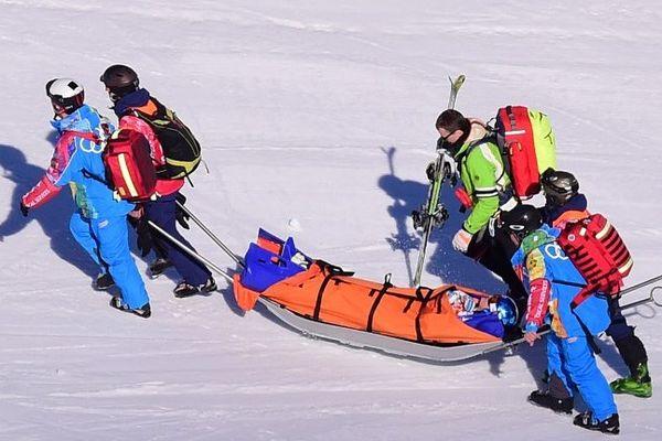 Alexandra Coletti a été évacuée vers l'hôpital