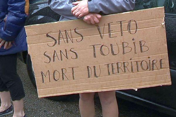 Couiza (Aude) - manifestation contre la fermeture du cabinet vétérinaire - 9 juillet 2019.