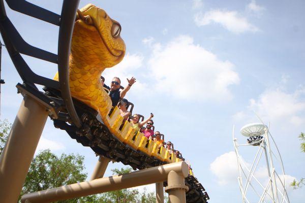 """Le """"Serpent"""" est l'une des deux nouvelles attractions lancées cette année. Un investissement qui a contribué à attirer plus de monde."""