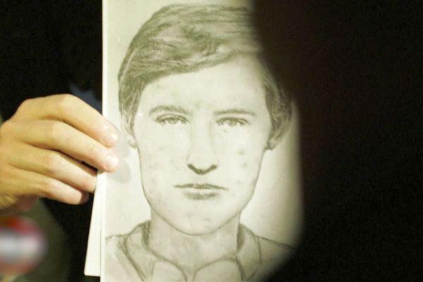 """Portrait robot de François Verove dit """"le grêlé"""", célèbre tueur en série des années 80 et 90, C'était il y a 35 ans."""