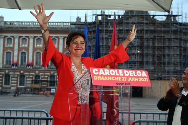 Avec 57.8% (l'estimation IPSOS/Sopra Steria), Carole Delga est élue pour un deuxième mandat à la tête de la région Occitanie.