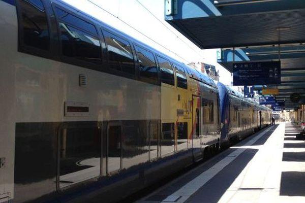 Un TER Lorraine en gare de Nancy (image d'archives).