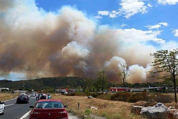 Bizanet (Aude) - un violent incendie a détruit 300 hectares de pinède et de garrigue entre 15h et 18h - 14 juillet 2016