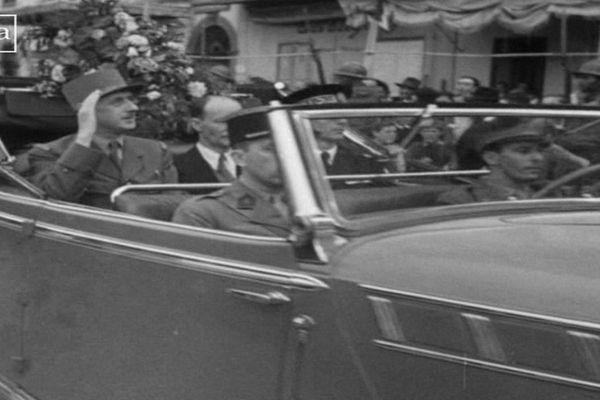 Le général De Gaulle s'est rendu à Ajaccio le 8 octobre 1943 pour célébrer la libération de l'île.