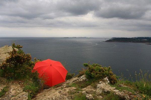 Un parapluie en Bretagne