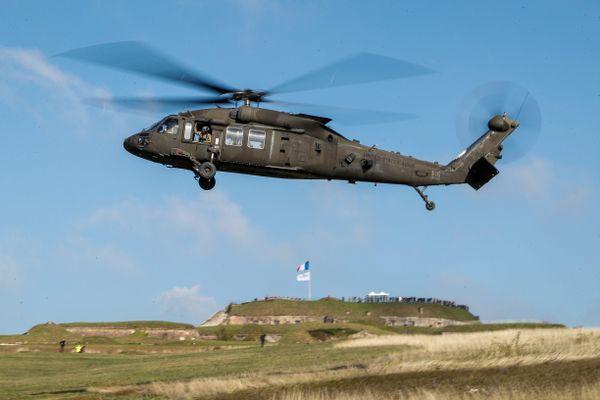 Des hélicoptères de l'US Army ont survolé la citadelle de Belfort.