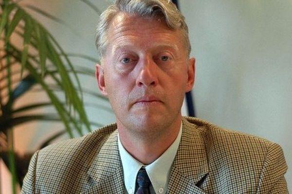 Philippe Bernard, ancien dirigeant du FN du Nord, en août 2004, à l'université d'été du FN.