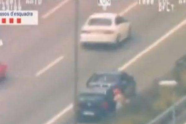 Piratage sur autoroute en Espagne ( capture d'Ecran)
