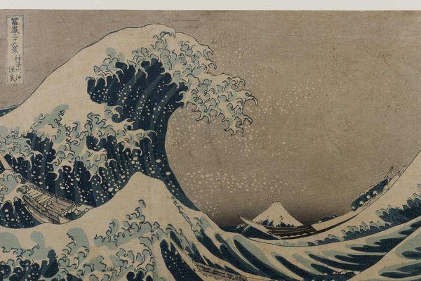 """""""La Grande Vague de Kanawaga"""" peinte par Katsushika Hokusaï en 1824 est l'estampe japonaise la plus connue au monde"""