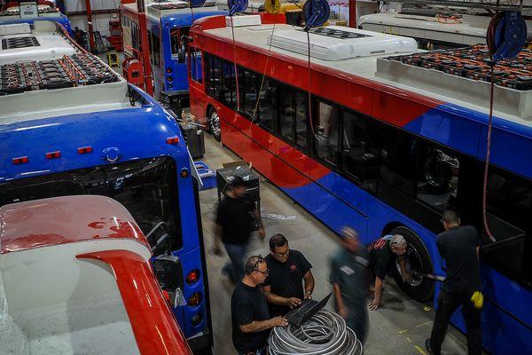 Le bus électrique testé par l'agglomération de Saint-Quentin a été fabriqué par le constructeur chinois BYD, installé à Beauvais.
