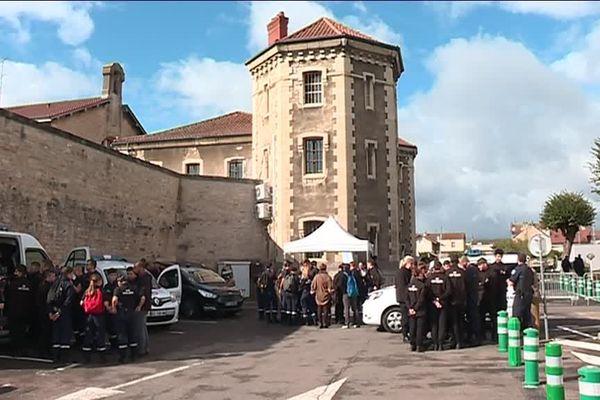 Des démonstrations étaient organisées par l'administration pénitentiaire à Dijon pour présenter ses différents métiers.