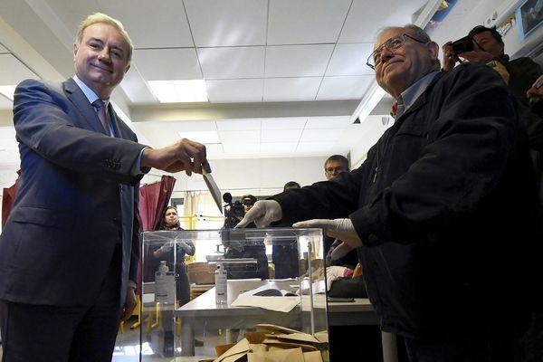 Le maire sortant de Toulouse Jean-Luc Moudenc dimanche 15 mars