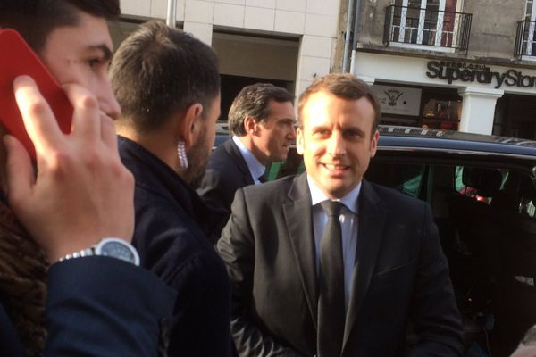Emmanuel Macron, le 17 mars à Reims