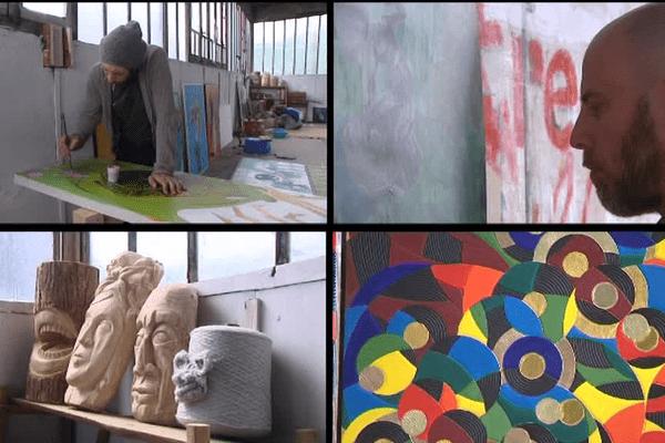 8 artistes, peintres, sculpteurs, créateurs d'objets... ont investi une friche industrielle à Saint-Léonard-de-Noblat, en Haute-Vienne. Espace de création, ils espèrent en faire un site de diffusion artistique.