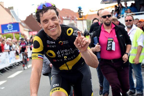 Sylvain Chavanel, heureux de sa victoire  sur cette 4ème étape des 4 jours de Dunkerque