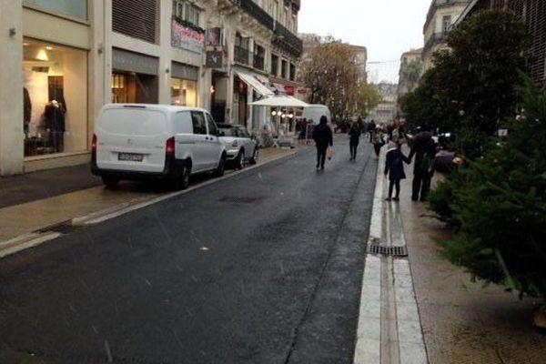 Les premiers flocons de neige à Montpellier - 2 décembre 2017