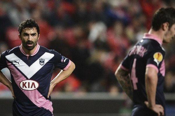 Ben Khafallah lors du 16e de finale de la Coupe de France contre Benfica le 7 mars 2013.