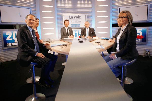 """Jean-Jacques Lozach, Laurence Pache, Martial Maume et Valérie Simonet, dans """"La Voix est Libre"""" ce samedi."""