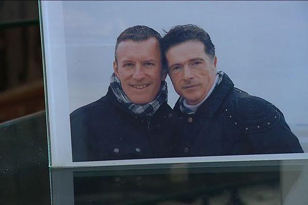 Eric Foray et son compagnon Régis Pique