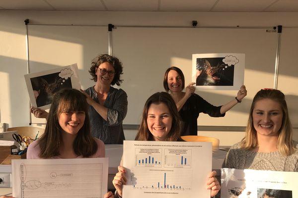 Présentation de leurs travaux de recherche sur le langage de la chauve-souris (Physique et Science et Vie de la Terre)