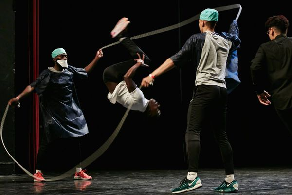 Le District Double Dutch de Grande-Synthe lors d'une compétition