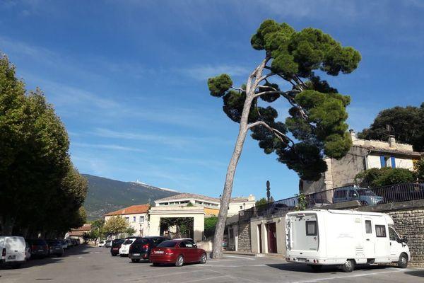 De fortes rafales de vent à Bédouin près du Mont Ventoux.