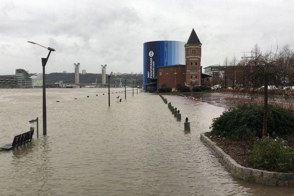 La Seine à Rouen le mercredi 31 janvier 2018 à 14h
