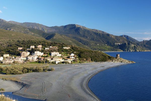 La plage d'Albo à Ogliastro