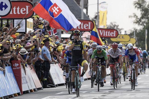 Dylan Groenewegen vainqueur de la septième étape du Tour de France 2018