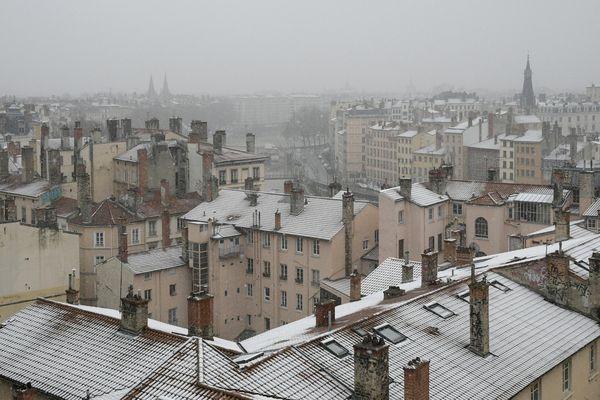 La neige à Lyon (archives) devrait tomber dans la nuit du 19 au 20 novembre 2018