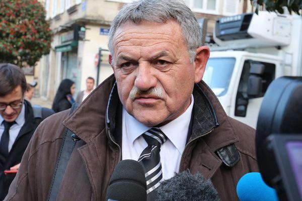 René Marratier, le 18 novembre 2015, lors du procès en appel de la tempête Xynthia à Poitiers.