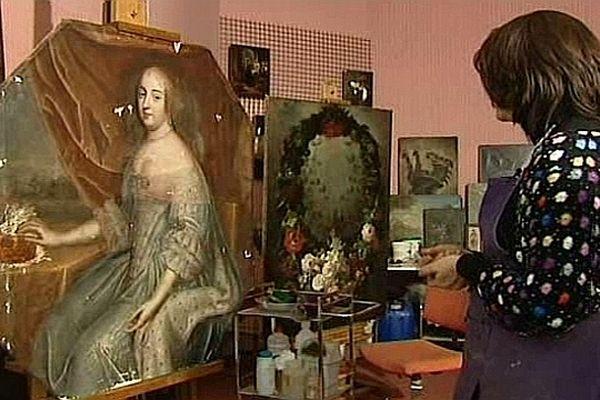 """Un tableau représentant """"La Grande Mademoiselle"""", cousine de Louis XIV , était conservé depuis plus de 200 ans dans les réserves du musée d'Auxerre."""